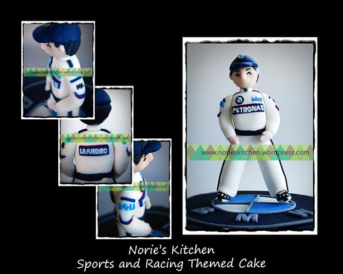 Norie's Kitchen - Sports and Racing Themed Cake - Topper Detail