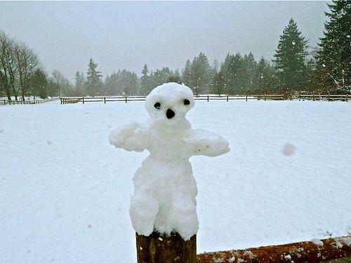 Concerned snowman