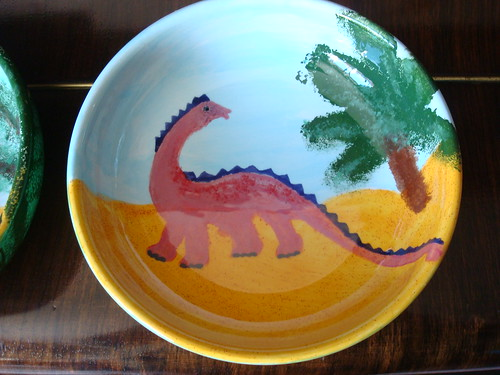 Dino plate 2 after glazing by squeejay