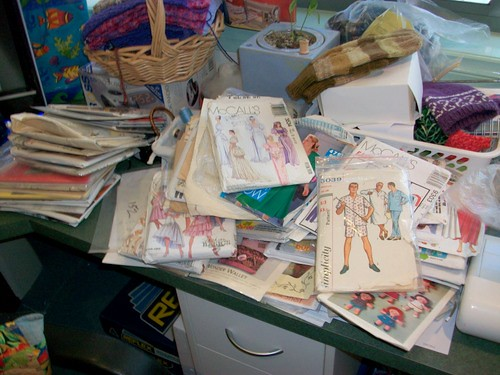A semi sorted pile of Patterns.