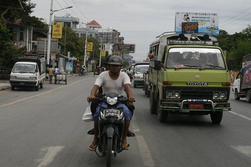 Pareja en motocicleta
