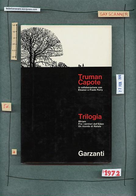 Truman Capote, Trilogia. Garzanti 1972. Prima di sovracoperta