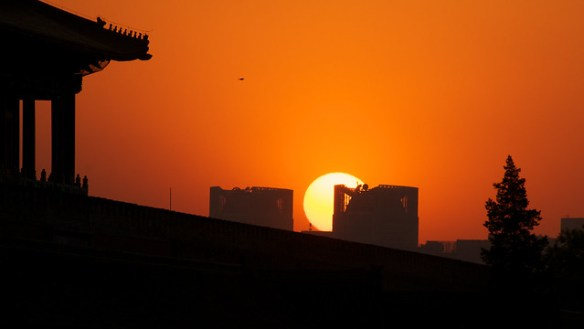 Sunset over the forbidden city