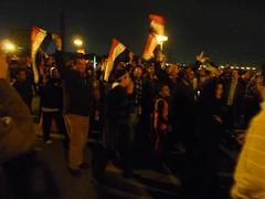 Celebrations of Mubarak's resignation on Kasr ...