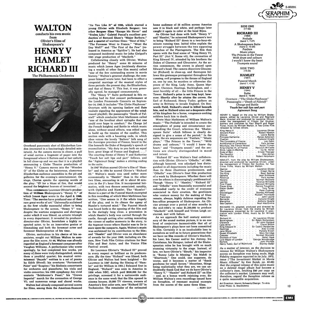 William Walton - Sir William Walton Conducts His Great Film Music