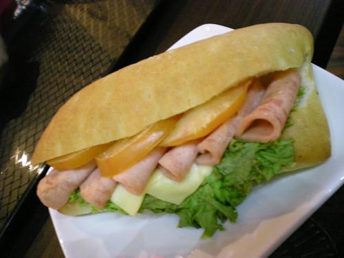 Chicken &  cheese focaccia sandwich