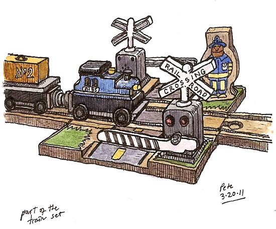 toy railroad crossing