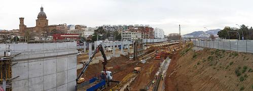 Panorámica estació de Sant Andreu - 31-01-11