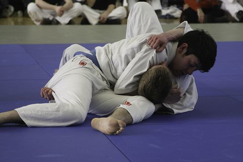 Lachlan with a hold for Ippon