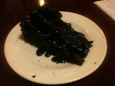 chocolate mousse cake at Emilio's