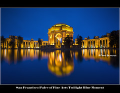 San Francisco Palce of Fine Arts Twilight Blue...