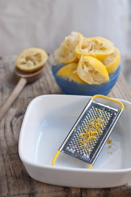 Lemon Curd - Zesting