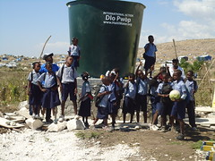 Children at Camp Carol are among the first beneficiaries of the new water trucks!