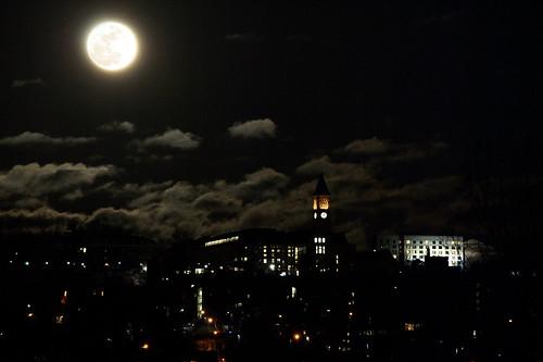 Moon over Cornell