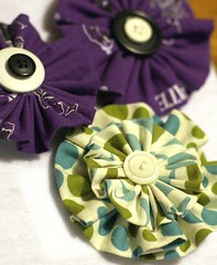 fabric flowers detail