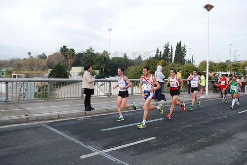 Dani y Raúl en la Maratón de Sevilla