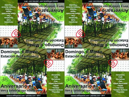 Free Flyer! Aniversario #4 (Mercado La Estación, Oaxaca)