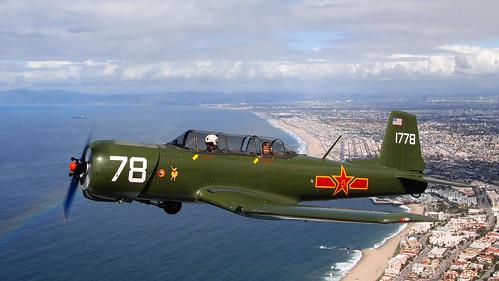 Nanchang CJ-6 Over the Pacific