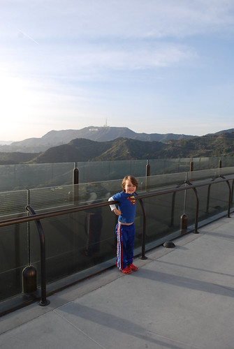 my boy and the hollywood sign