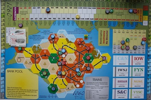 1860: Isle of Wight board at the end of a game