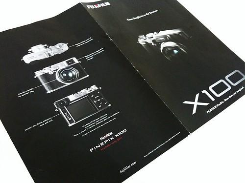 Funiculi Finepix X100 booklet