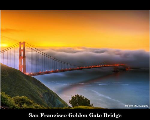 San Francisco Golden Gate Bridge by davidyuweb
