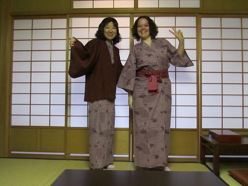 Kazue and I in yukata