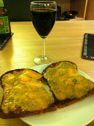 Lots of very smelly cheese on toast