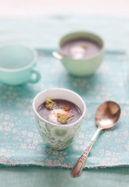 purple cauliflower soup & scenes from a weekend