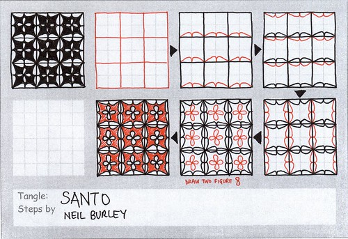 Santo - tangle pattern by perfectly4med
