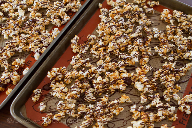 Dark Chocolate Caramel Popcorn