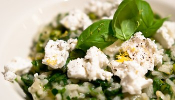 risotto with peas and goat cheese