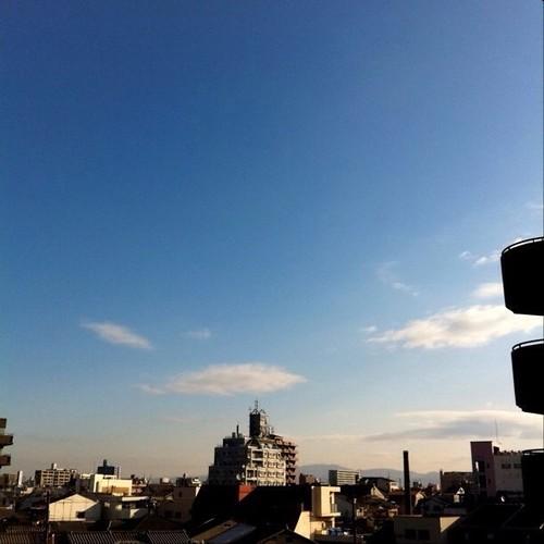 おはよ! 今日の大阪、快晴です。洗濯日和、オフ会日和…いろいろ楽しもー!(^O^☆♪