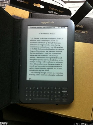 Kindle Leather Cover With Light 07