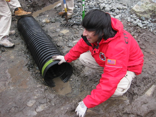 Corps Members Create Drainage