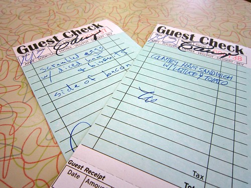 Fill Out Your Own Guest Check Silver Skillet Atlanta GA