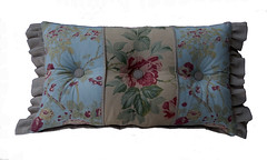 Granny Chic Patchwork Button Throw Pillow