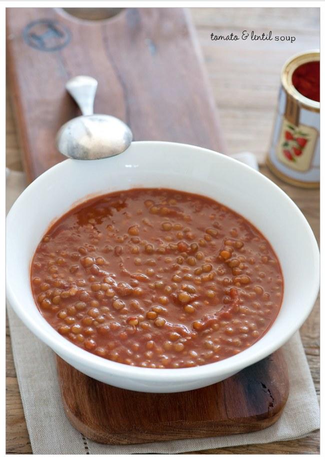 smoky tomato & lentil soup