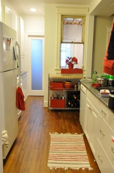 Kitchen West before painting rack