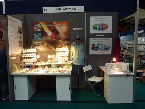 Great use of signage and posters by Lush Lampwork