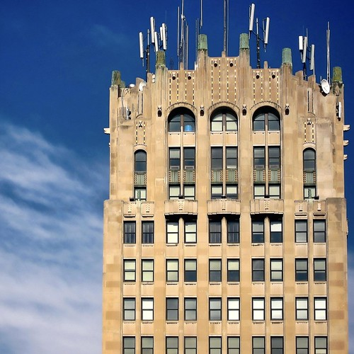 Art Deco Tower with Antennas