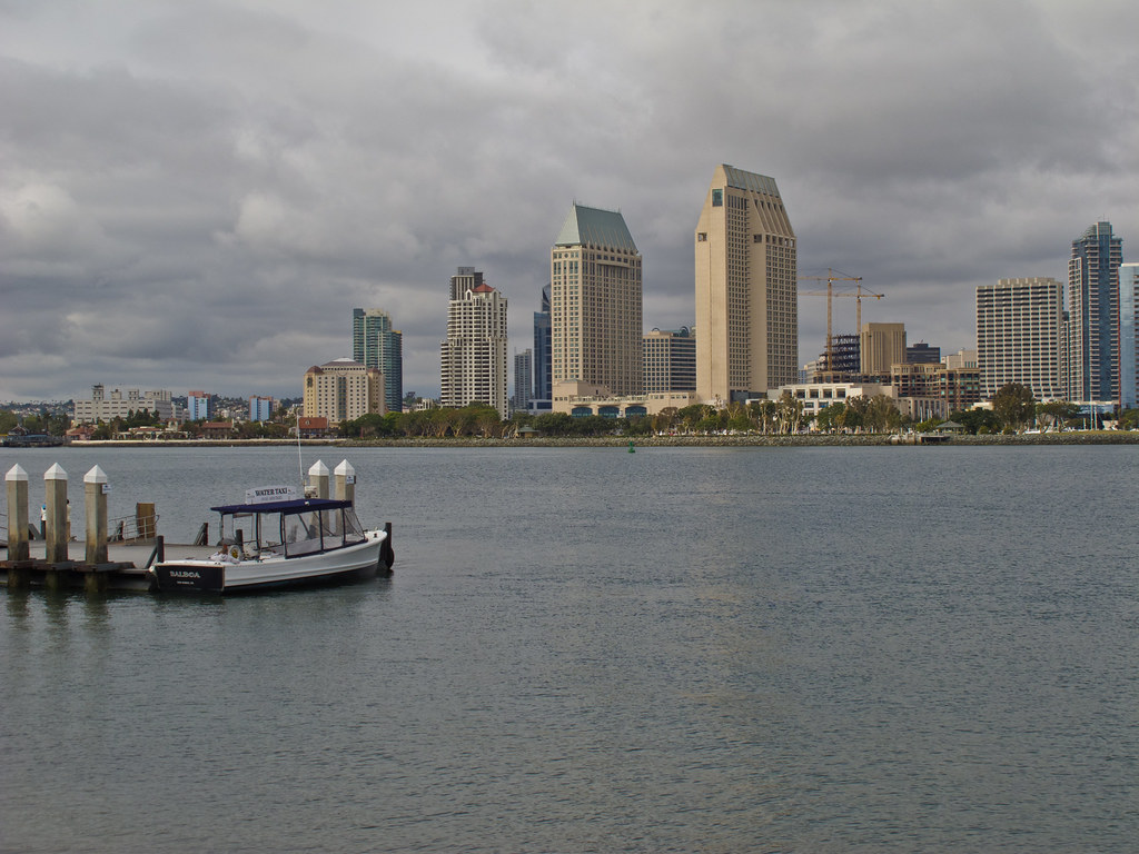 Downtown San Diego from across the harbour