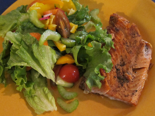 Super Salad & Salmon Combo