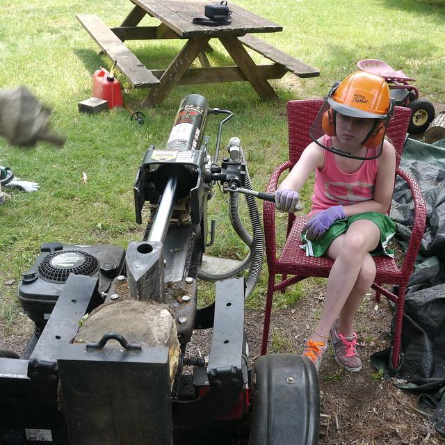 Splitting Logs on a Warm June Afternoon