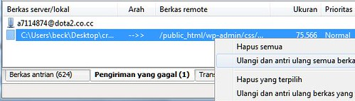 upload ulang via filezilla