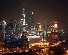 Shangai by night. Business in China. Kane Minks
