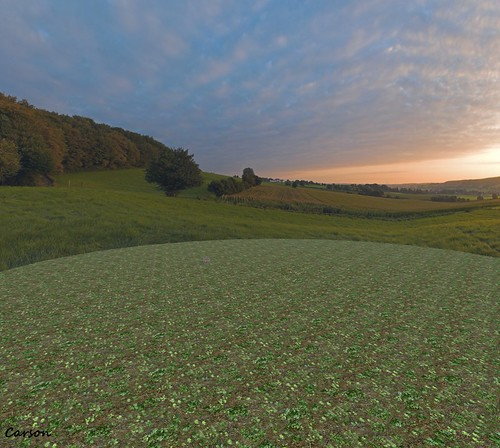 Two Moon Panoramics - Evening Over Alsace (2)
