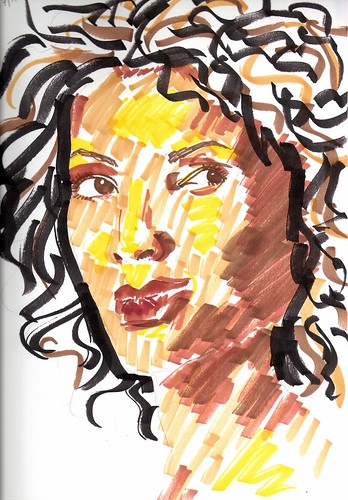 Woman in markers