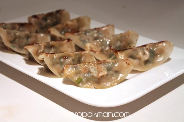 Pan fried Shrimp, Pork, Cabbage Guotie