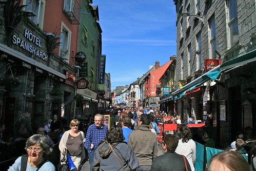 Busy Galway Street